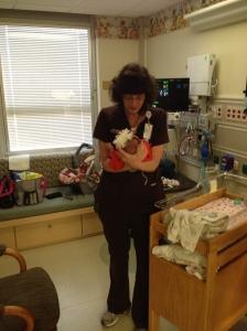 Even the nurse manager kept tabs on little Emma.